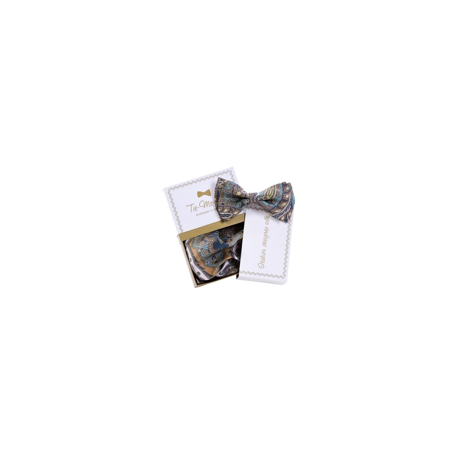 Luxury gifts for men natural silk bowtie and handkerchief for Designer gifts for men