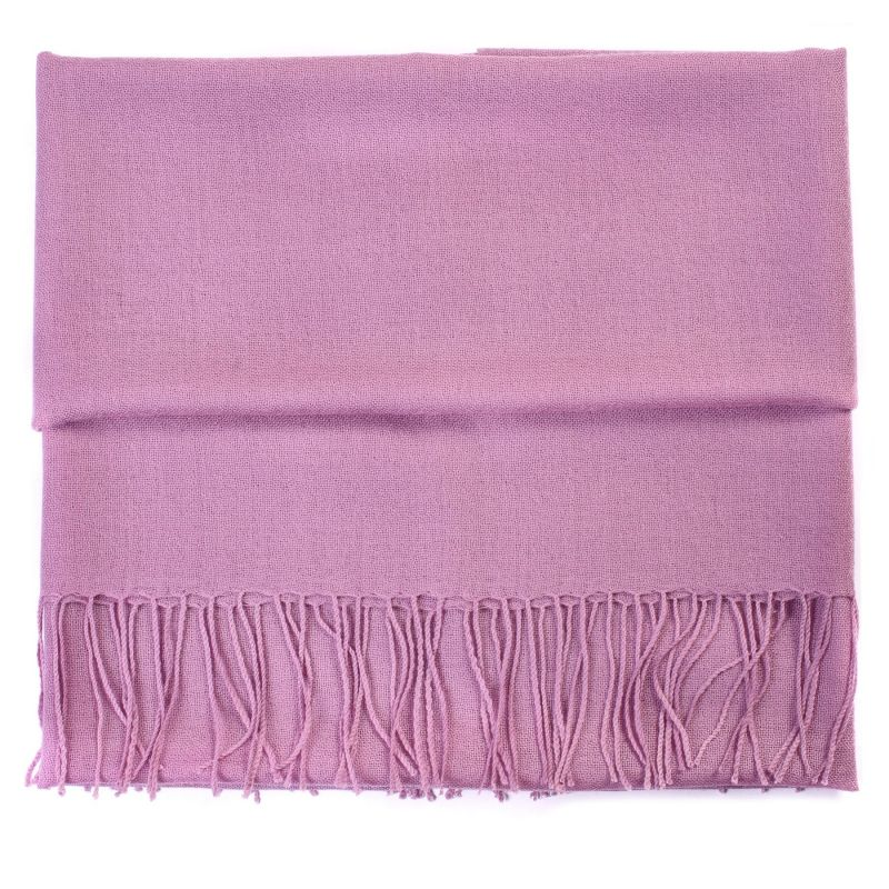 Wool and cashmere scarf Mila Schon pale lilac