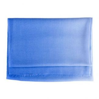 Wool and cashmere scarf Marina D'Este 2 tones blue