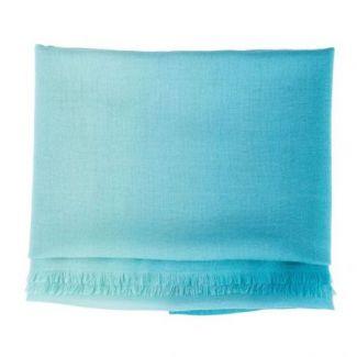 Esarfa lana si casmir Marina D'Este 2 tones green