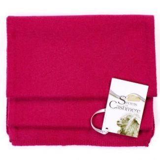Cashmere scarf Red Fuschsia