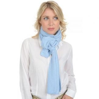Cashmere scarf Baby Blue
