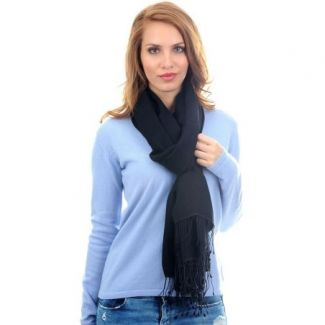 Cashmere and silk scarf Black