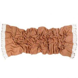Cashmere and silk scarf  Camel