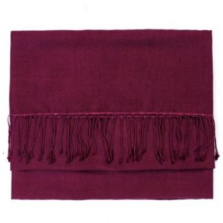 Cashmere and silk scarf Plum