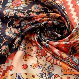 Silk scarf Persian Story Bordo