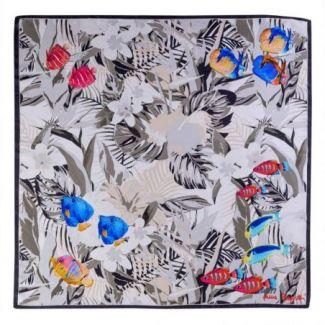 Silk scarf Playa del Amore