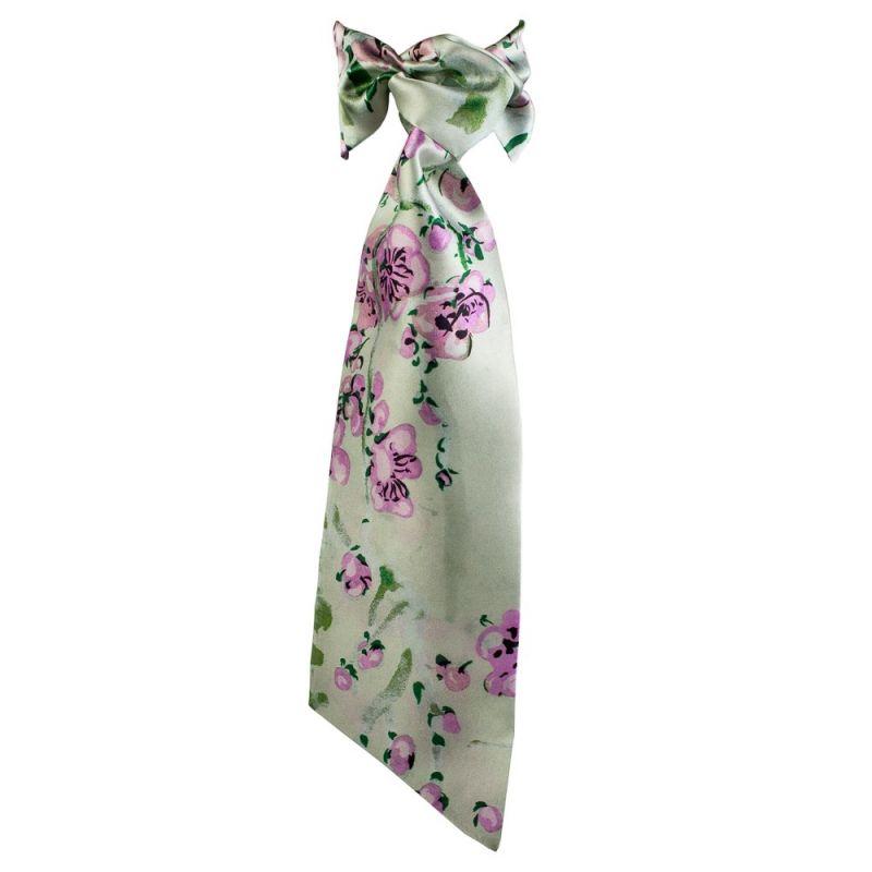 MC Lilac Flowers Flounce Scarf