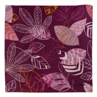 Silk scarf S Graphic Dance purple