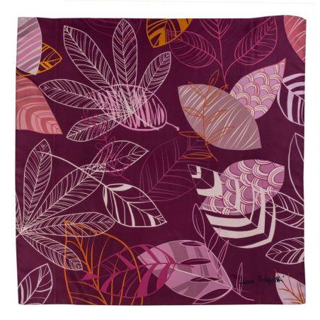 Silk scarf S Graphic Dance purple
