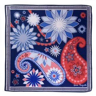 Silk scarf Cityscape navy