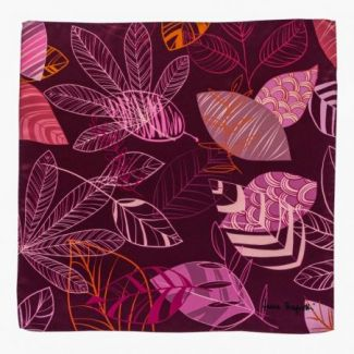 Silk scarf Graphic Dance Purple