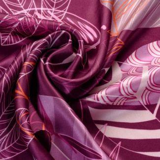 Esarfa matase twill Graphic Dance Purple