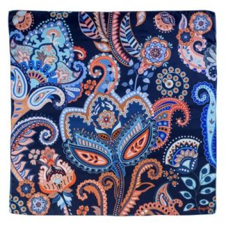 Silk scarf Magic Dream Navy