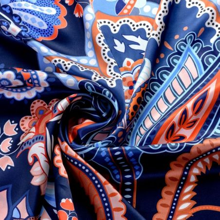 Silk scarf Magic Dream Navy