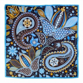 Silk scarf Fairy Tale Blue