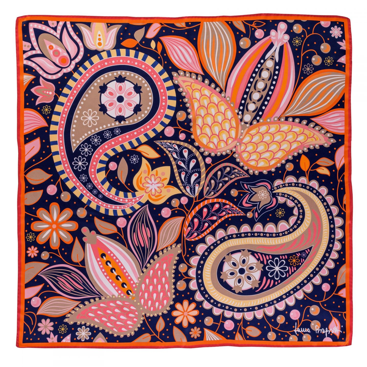 Silk scarf Fairy Tale Baby Pink