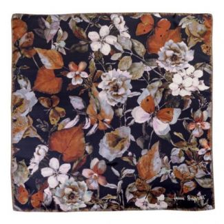 Silk scarf Flower Sensation Dark