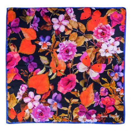 Silk scarf Flower Sensation Red