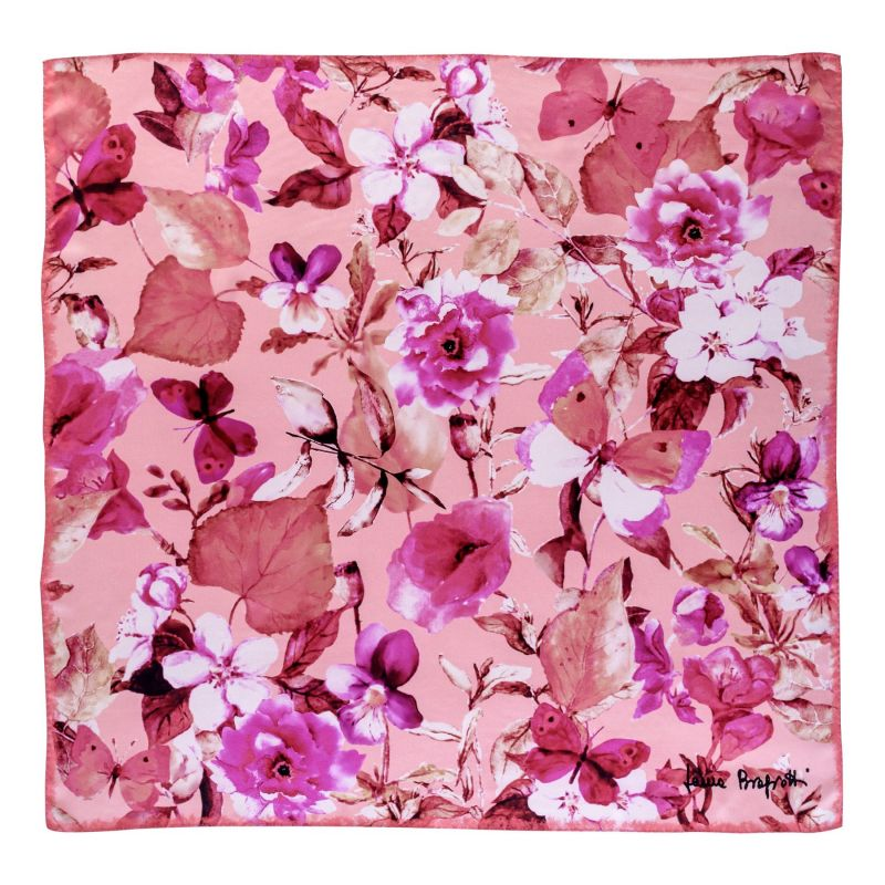 Esarfa matase Flower Sensation Pink