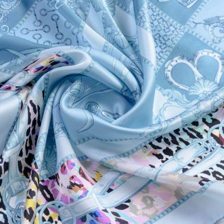 Silk scarf Fusion Polo Ice Blue