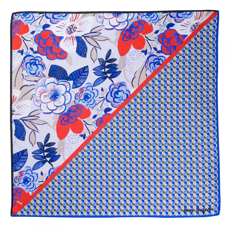 Silk scarf Catchy Look blue