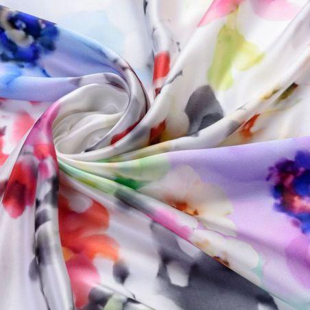 Silk scarf Donna dei Fiori Red