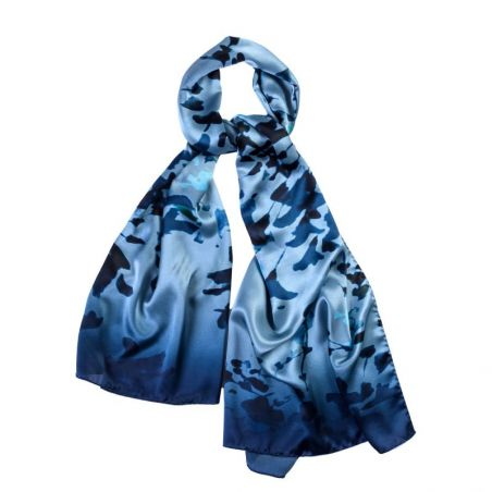 Silk shawl Legendary Blue Moon
