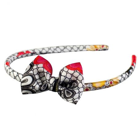 Luxury gift: Mystic Red Frill Scarf and Bowed Headband