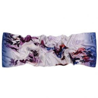Silk shawl Deep Reflexion Purple