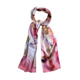 Silk shawl Abstract Aquarella