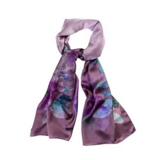 Silk shawl Autumn Symphony purple