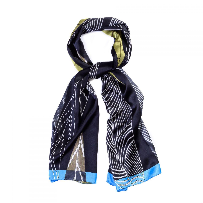 Silk shawl Milano Fashion Black