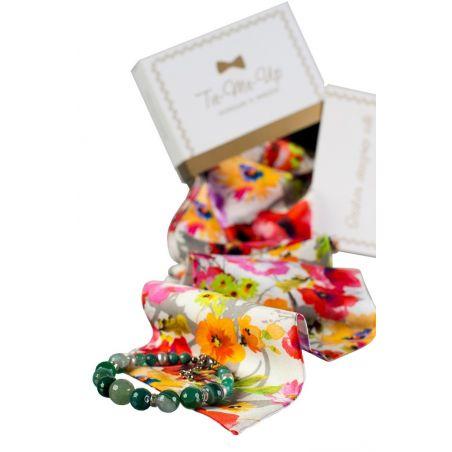 Cadou: Eşarfă mătase naturală şi fundiţă Sunshine