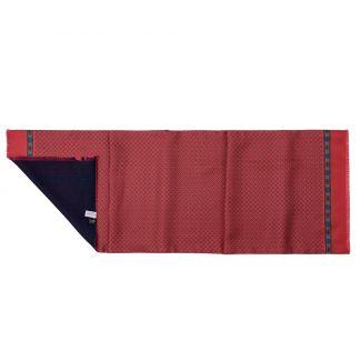 Men scarf silk and wool Anvers dark red