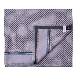 Men Scarf L. Biagiotti smart grey pearl print