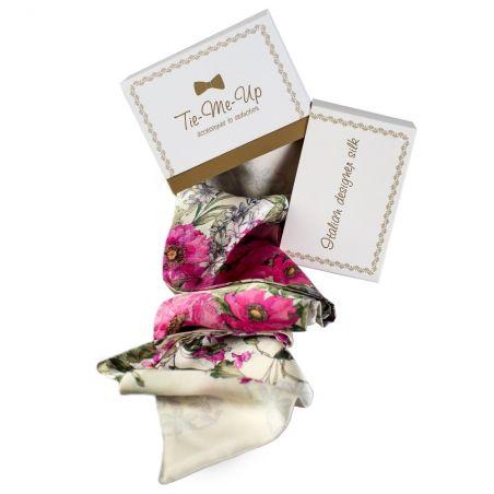 Cadou: Eşarfă mătase naturală şi fundiţă Sweet Caroline
