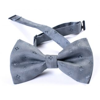 Mr. Bond grey silk bow tie