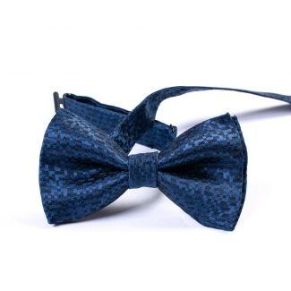 Italian blue silk bow tie