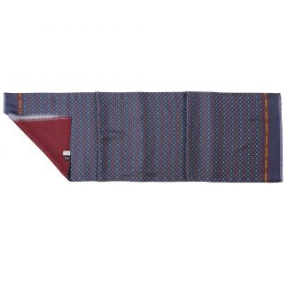 Men scarf silk and wool L. Biagiotti Perugia navy-orange