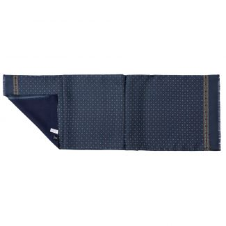 Men scarf silk and wool L. Biagiotti Luton navy-bordeaux