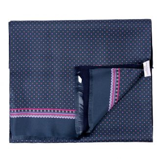 Men scarf silk and wool L. Biagiotti Anvers navy-lila