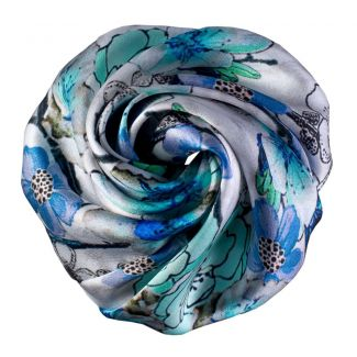 Blue Flowers Hair Rose