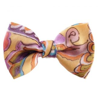 Yellow Paisley Bow