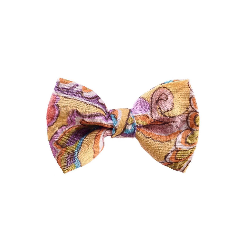 Yellow Paisley Bow