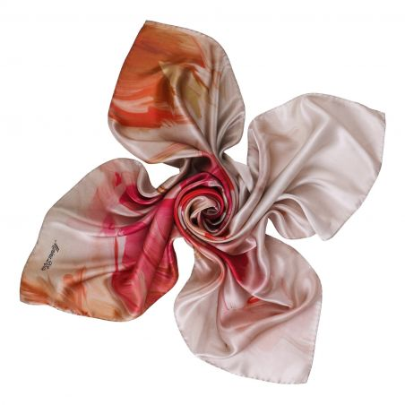 Sweet Touch rose nude silk scarf