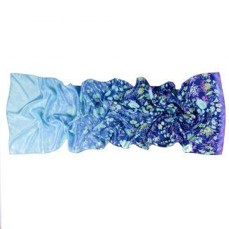 Sal matase Flowers Blue