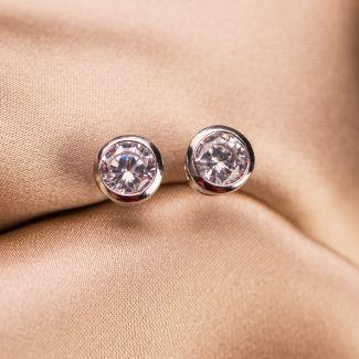 Zirconia Briliant Look silver earrings