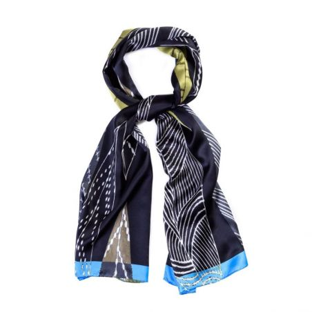 Silk shawl Milano Fashion Black