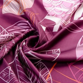 Esarfa matase S Graphic Dance purple